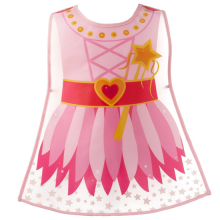 Girls Pink Princess Kids Wipeable Play Tabard