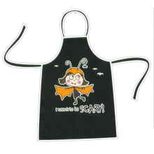 I Want To Be Scary Kids Black Halloween Apron
