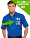 Premium Short Sleeved Shirt with Corporate Logo Embroidered