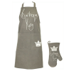 Mens Barbecue King Matching Apron and Oven Glove Set