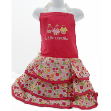 Pretty Dress Style Girls Frilly Baking Apron