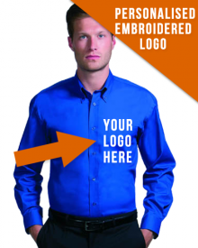 High Quality Long Sleeved Shirt with Corporate Logo Embroidered