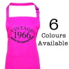 Vintage Aged Perfection Birthday Year and Anniversary Date Apron