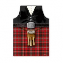 Scottish Kilt Funny PVC Novelty Apron
