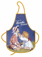 Vintage Birds Custard Advert Printed Apron