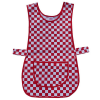 Traditional Red Cheque Polycotton Tabard with Front Pocket