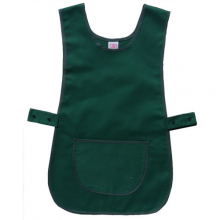 Bottle Green Durable Polycotton Adjustable Tabard Apron