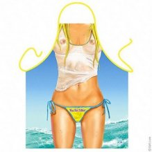 Waikiki Beach Wet T-Shirt Party Novelty Apron