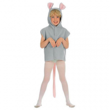 Childrens Fancy Dress Furry Mouse Tabbard