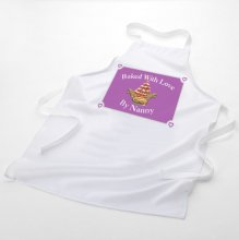 Baked With Love Personalised Name White Baking Apron