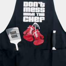 Don't Mess With The Chef Boxing Gloves Black Apron