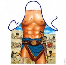 Bare Chested Gladiatorial Gentleman Novelty Funny Apron