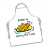 Funny Personalised Name Christmas Turkey Stuffer Apron