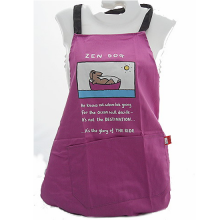 Zen Dog Funny Sketch Cotton Apron by Edward Monkton