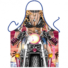 Leather Clad Biker Bikini Babe Novelty Ladies Apron