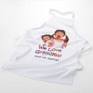 Personalised Image and Message Printed Apron