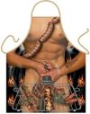 Hot Sausage Naked BBQ Novelty Mens Apron