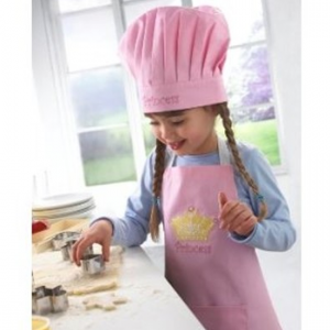 Lovely Girls Pink Princess Kids Baking Outfit