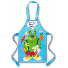 Blue Monster Messy Kids Fun PVC Apron