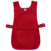 Bright Red Work Tabard Apron with Front Pocket