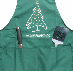 Christmas Tree Green Novelty Cooking Apron