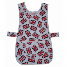 Novelty White Union Jack Tabard Apron