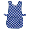 Blue and White Chequered Adjustable Uniform Tabard