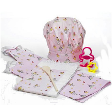 Girls Pink Cupcake 6 Piece Baking Set With Apron