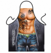 Novelty Mens Hunky Tattoo Apron