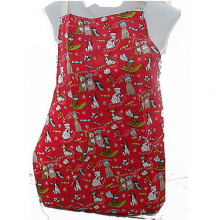 Novelty Dogs Funny Christmas Red Cotton Apron