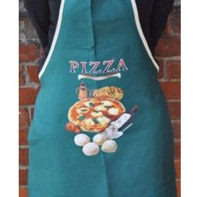Green Italian Pizzeria Workers Apron