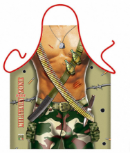 Naked Army Soldier Novelty Mens Apron