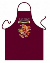 Traditional Salumi Classic Cooking Maroon Cotton Apron