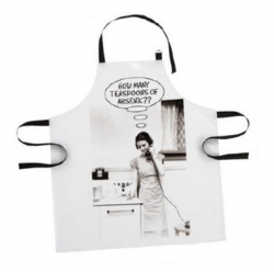 Arsenic Deadly Housewife Black and White PVC Apron