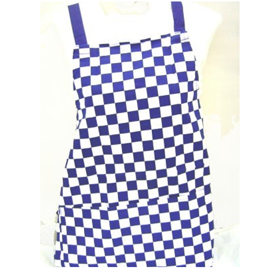 Traditional Chef Blue and White Chequered Kitchen Apron