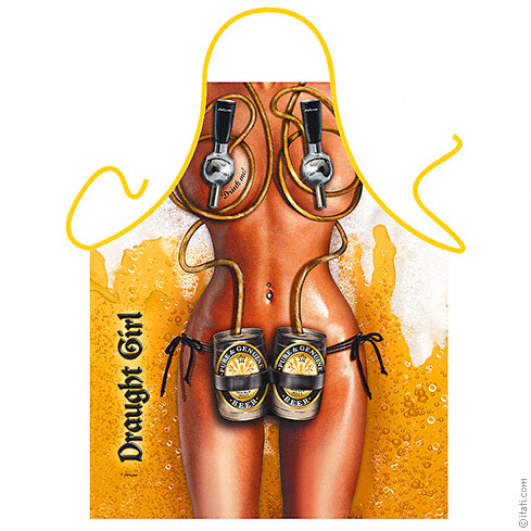 Girls On Tap Rude Mens Novelty Beer BBQ Apron