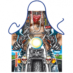 Hells Angel Big Biker Man Novelty Mens Apron
