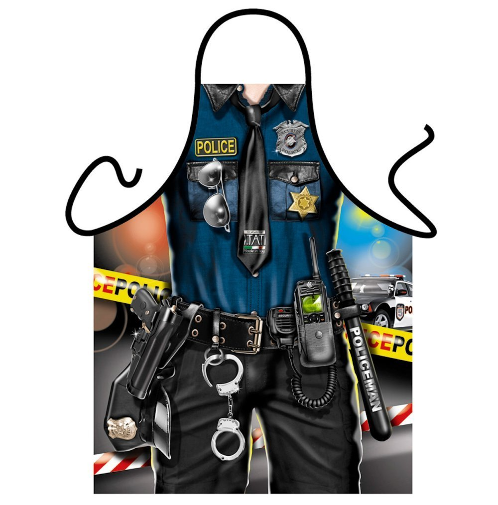 Office of the Law Mens Novelty Police Apron