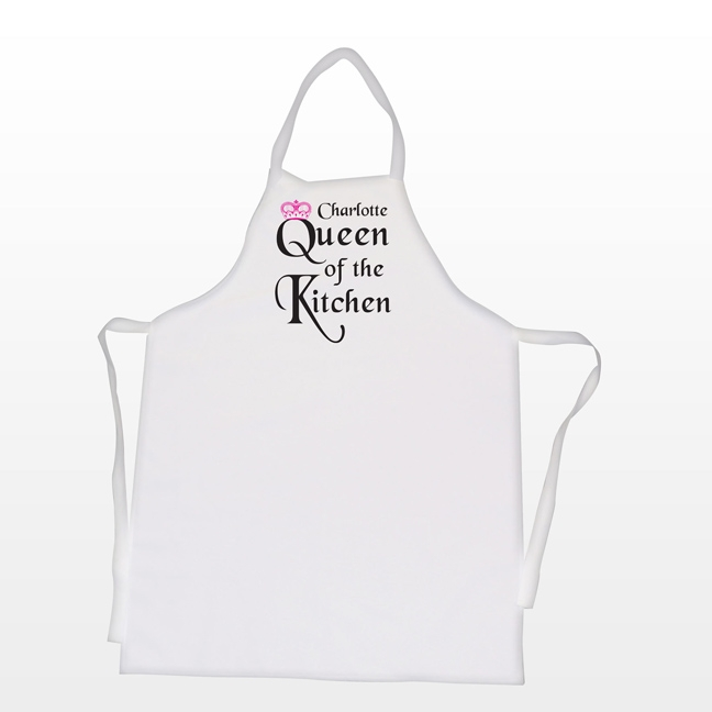 Personalised Name Queen of Kitchen Novelty Apron - £18.99 : Buy ...