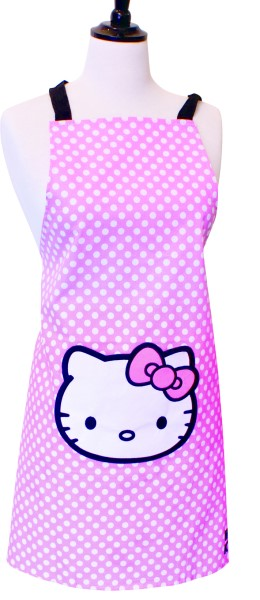 Pink Polka Dot Official Hello Kitty Apron