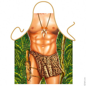 Me Tarzan Mens Funny Jungle Apron
