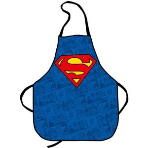 Comic Strip Style Super Man Apron